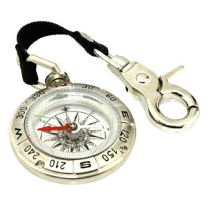 Silver Alloy, Liquid Filled Compass on Lanyard, great for scouting, hiking and trekking!