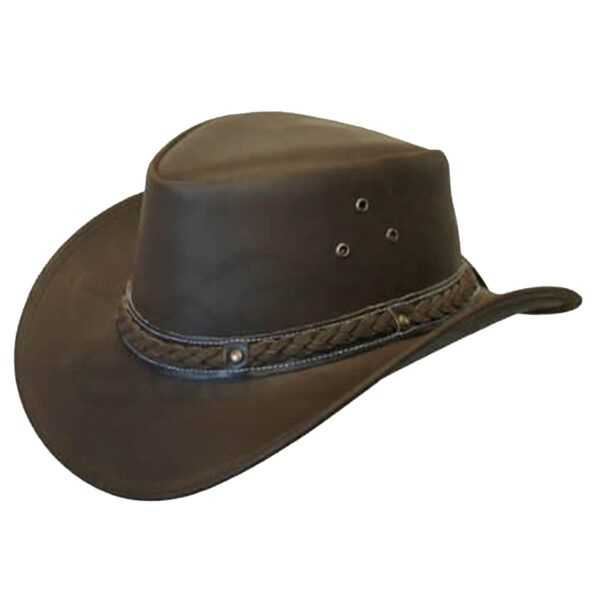 quality leather aussie style cowboy hat