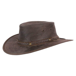 Crushable Leather Hat -Traveller Outback Aussie Cowboy Style