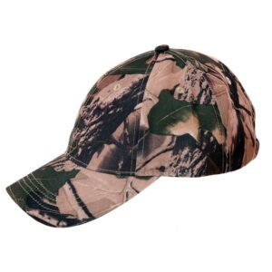 Great quality Baseball Cap with Velcro size adjuster. Popular Green Woodland Camouflage Pattern.