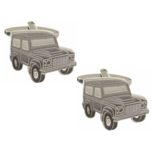 Lovely Men's Gift for Farmers and Country men: High Quality Land Rover Defender Cufflinks. Scratch Resistant Finish. Supplied in Gift Box
