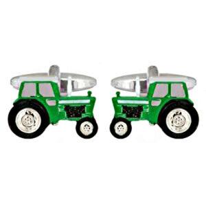 Great mens Farming gift idea: Green Tractor Cufflinks by Dalaco