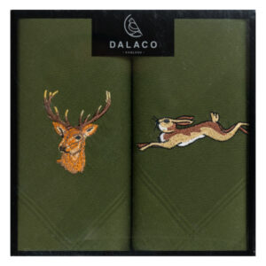 Stag and hare embroidered handkerchiefs - make a lovely country sports themed gift