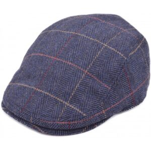 stylish tweed flat cap, quilted inside for extra comfort and warmth - Perfect for any occasion!
