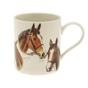 Lovely Fine China, Race Horses Mug, Featuring images of famous Irish and British Race Horses