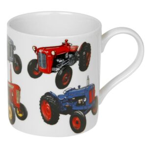 Classic vintage tractors - Farming themed mug in gift box.