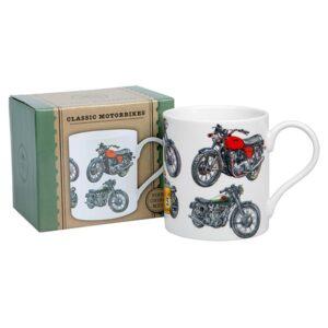 Classic Motorbikes Boxed Mug - Dishwasher and Microwave safe!