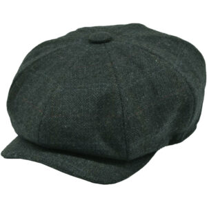 Fine Herringbone, checked cap in Blue/Grey, Looks cool, Feels warm and comfortable!