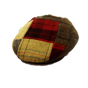 Traditional 100% Wool Patchwork, Tweed Cap, A Stylish Classic!