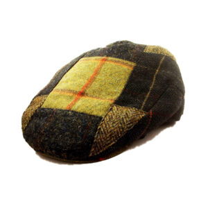 Beatiful Classic, Patchwork Tweed Cap, 100% Wool, Stylish and Warm!