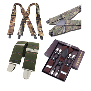 A top selection of quality country sports, racing and farming themed braces, in addition there are quality fashionbraces and heavy duty camouflage braces