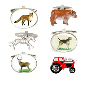 A wide selection of top quality equestrian, country sports and farming themed cufflinks