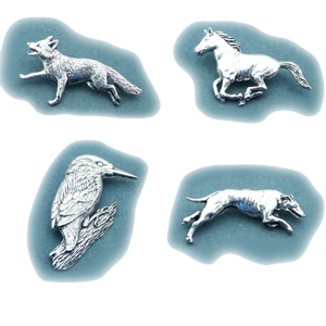 A fabulous range of highly detailed pewter pins and statues