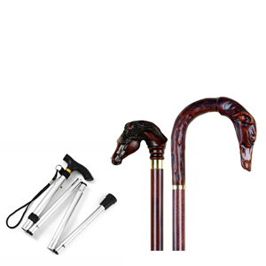 A good range of walking sticks, some collectable, some foldable for travel and some suitable as disability aids