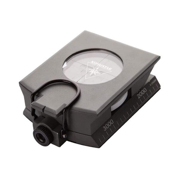 konus #4074 grey metal, liquid filled, professional compass