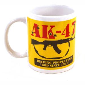 Classic AK47 Mug -Helping People Find God Since 1947