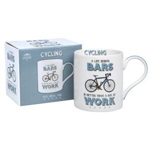 Fine China Cycling Mug - Novelty gift idea for cyclists