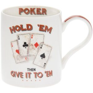 Fine China Mug - Ideal Gift for Texas Hold Em Poker Players and Fans!