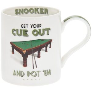 Fine China Mug, Great gift for Snooker Fans. Get Your Cue Out and Pot 'Em!