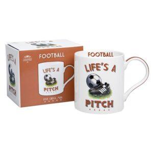 Cheeky Sport Football Mug - Life's A Pitch. Gift Idea for Soccer Fans!