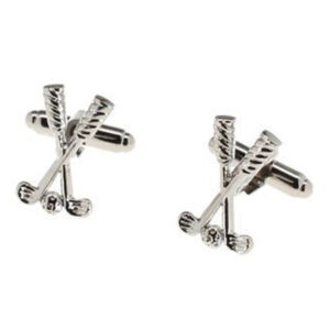Golfing gifts: Crossed golf clubs and ball cufflinks, ideal gift for golfers and golf fans