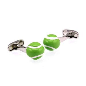 Great gift for tennis fans, green tennis ball cufflinks from Agent 74