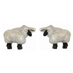 Great farming and country themed gift: 3D Sheep design cufflinks, supplied in quality gift box.