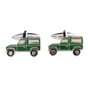 The perfect Gift for farmers and outdoor types: Top Quality Cufflinks featuring Green Land Rover.