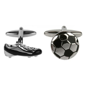 Football Gift Idea _Soccer Boot and Ball Cufflinks by Agent 74