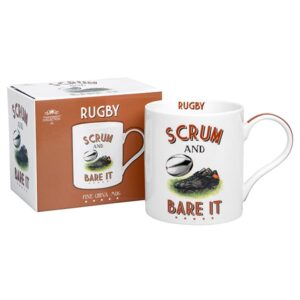 Cheeky Sport Rugby Mug - Scrum and Bare It! Rugby Themed Gift Idea!