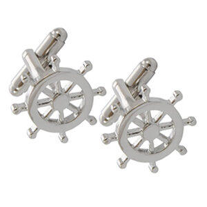Top Quality Ships Wheel Cufflinks - great gift idea for sailors, yachtsmen and mariners
