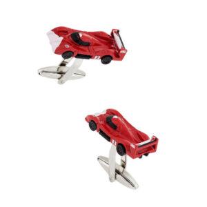 Red Ferrari Inspired, Le Mans Racing Car Cufflinks
