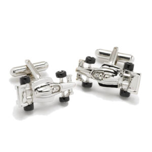 Gifts for F1 and Motorsports fans - Silver Finish Motor Racing Cufflinks!